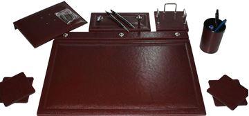 Sümen takımı 7 parça krom bordo resmi