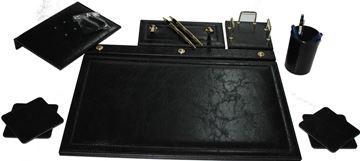 Sümen takımı 7 parça krom siyah resmi