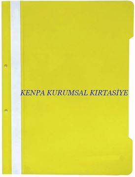 Noki plastik telli dosya sarı eco 50 li resmi