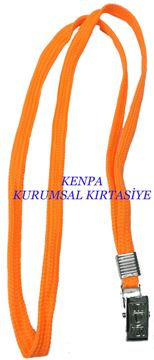 Boyun askı ipi Fosforlu turuncu 50 Lİ resmi