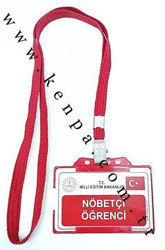 Nöbetçi öğrenci kart boyun ipli resmi