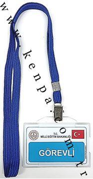 Görevli kartı boyun ipli resmi
