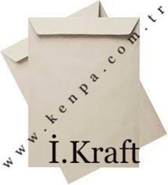 kraf torba zarf  silikonlu 17x25 90 gr