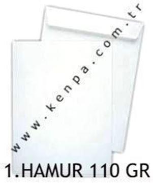 Torba zarf 17x25 1. hamur beyaz 110 gr.100 Lü