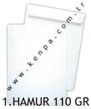 Torba zarf 24x32 1. hamur beyaz 110 gr.125 Li